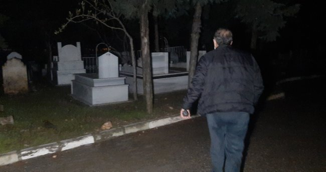 Mezarlıkta, 'kadın çığlığı' ihbarı asılsız çıktı