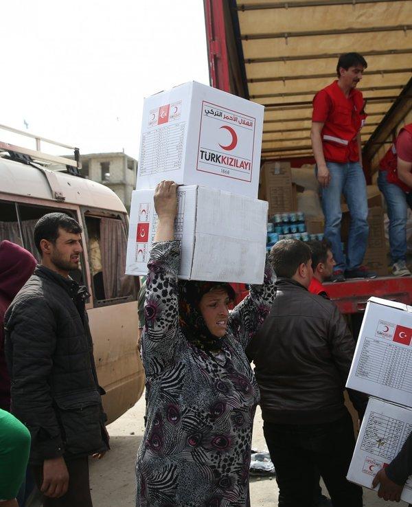 Mazlumun umudu 'Kızılay' ve 'AFAD' Afrin'de