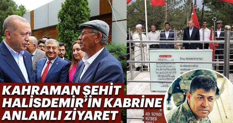 Cumhurbaşkanı Erdoğan şehit Ömer Halisdemir'in kabrini ziyaret etti