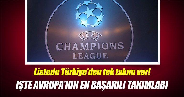 Avrupa kupalarının en başarılı takımları