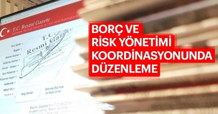 Borç ve risk yönetimi koordinasyonunda düzenleme