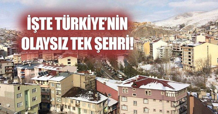 İşte Türkiye'nin tek olaysız şehri: Bayburt
