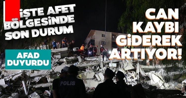 İzmir'den son dakika: Türkiye İzmir'e ağlıyor! AFAD afet bölgesindeki son durumu bildirdi! 39 ölü 896 yaralı