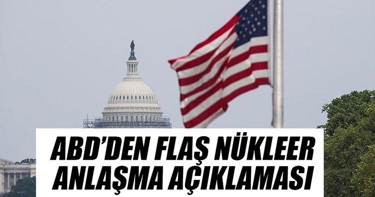 ABD'den flaş nükleer anlaşma açıklaması