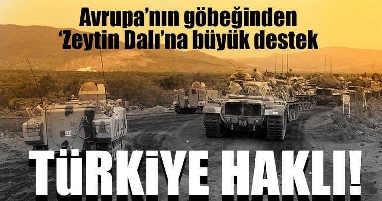 Son dakika haberi: Avrupa'nın göbeğinden 'Zeytin Dalı'na büyük destek