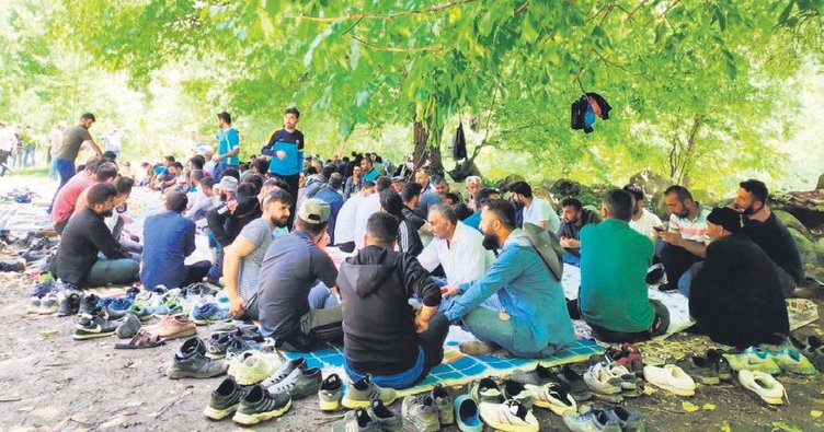 Dağlıca'da 200 kişilik piknik...