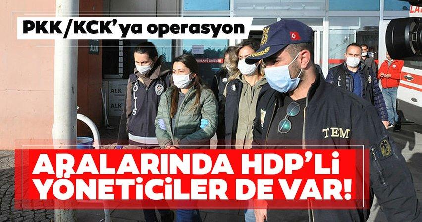 Son dakika: PKK/KCK'ya operasyon! Aralarında HDP'li yöneticiler de var