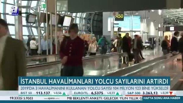 İstanbul havalimanları yolcu sayılarını artırdı