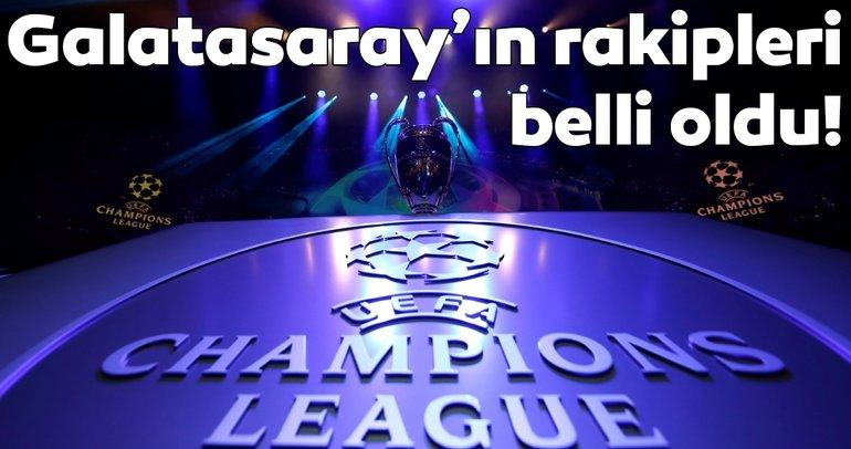 UEFA Şampiyonlar Ligi: Galatasaray'ın rakipleri ve fikstürü belli oldu