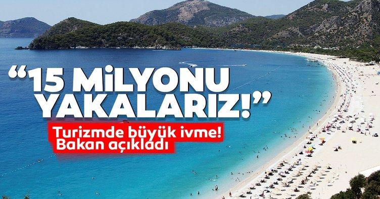 Son dakika | Turizm sektöründe büyük ivme! Bakan açıkladı: 15 milyonu yakalarız