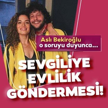 Aslı Bekiroğlu'ndan sevgilisine evlilik göndermesi!