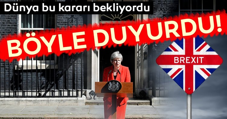 Son Dakika: İngiltere Başbakanı Theresa May istifa etti