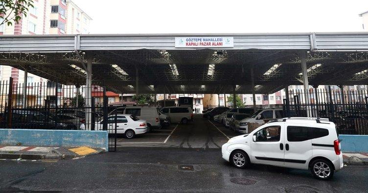 Dolu tehlikesine karşı kapalı pazarları otoparka çevirdi