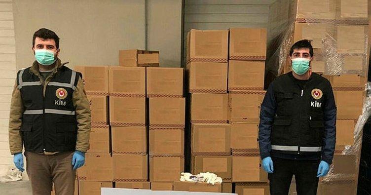 Kaçak yolla yurt dışına çıkarılmak istenen 86 bin adet tıbbi eldiven ele geçirildi