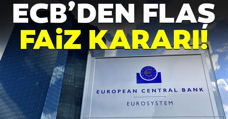 Avrupa Merkez Bankası'ndan flaş faiz kararı!