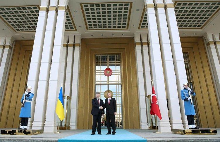 CumhurbaşkanI Erdoğan Ukrayna Cumhurbaşkanı Proşonko ile görüştü