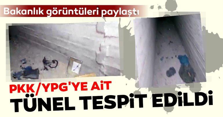 MSB: Tel-Abyad'da PKK/YPG'ye ait tünel tespit edildi