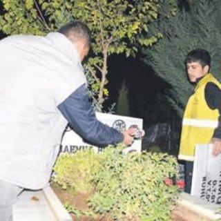PKK'lıların mezar taşları değiştirildi