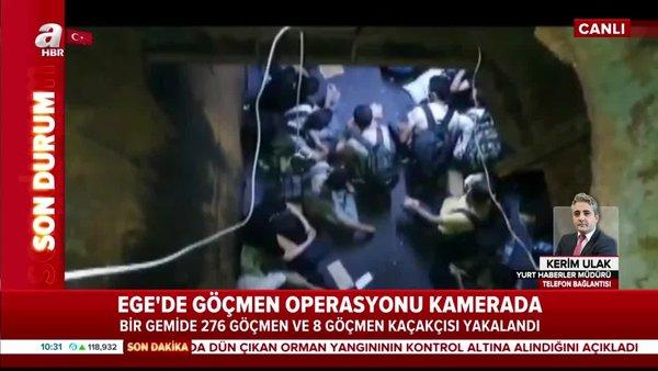 Son Dakika: Ege'deki dev operasyondan flaş görüntüler! 276 göçmen ve 8 göçmen kaçakçısı...   Video