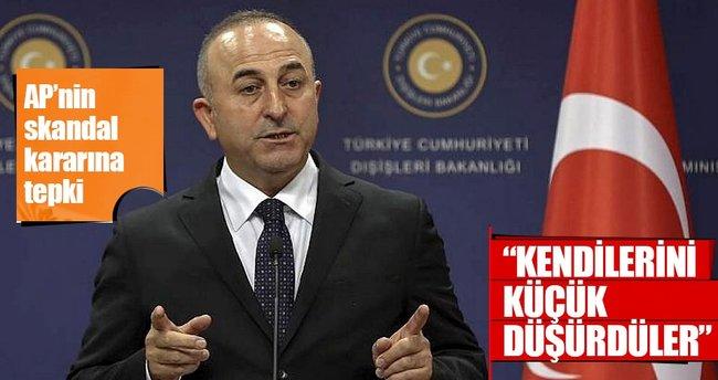Çavuşoğlu: Bu karar AB'yi ve AP'yi küçük düşürmüştür