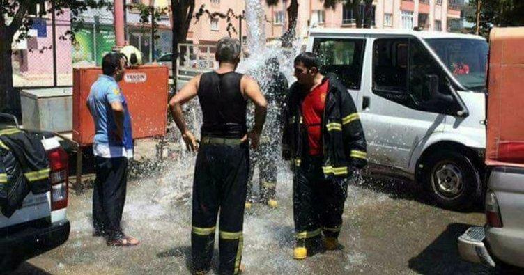 Yangın ve sıcakta itfaiyecilerin zorlu sınavı