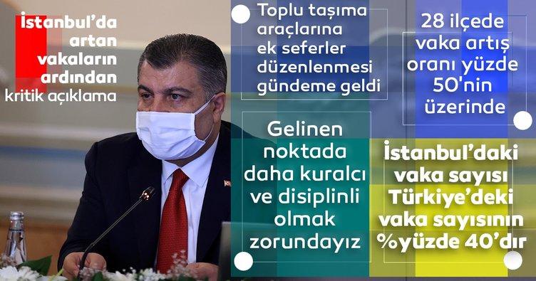 Son dakika: Sağlık Bakanı Fahrettin Koca: İstanbul'da toplu taşıma araçlarına ek seferler konulacak