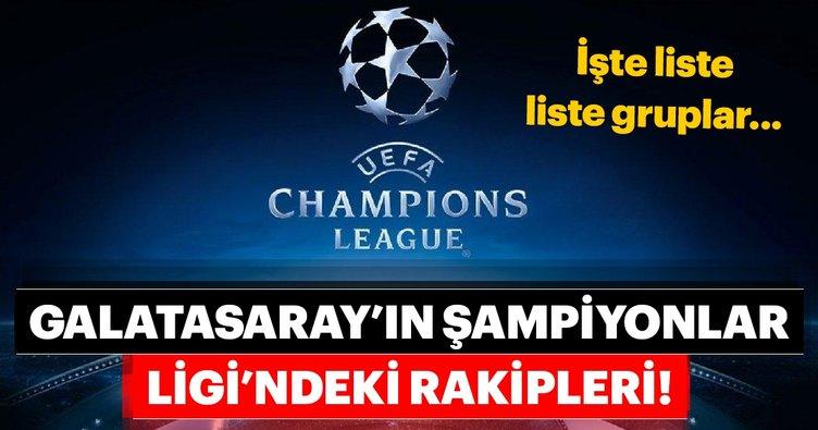 Galatasaray'ın Şampiyonlar Ligi'ndeki rakipleri belli oldu! İşte Galatasaray'ın rakipleri...