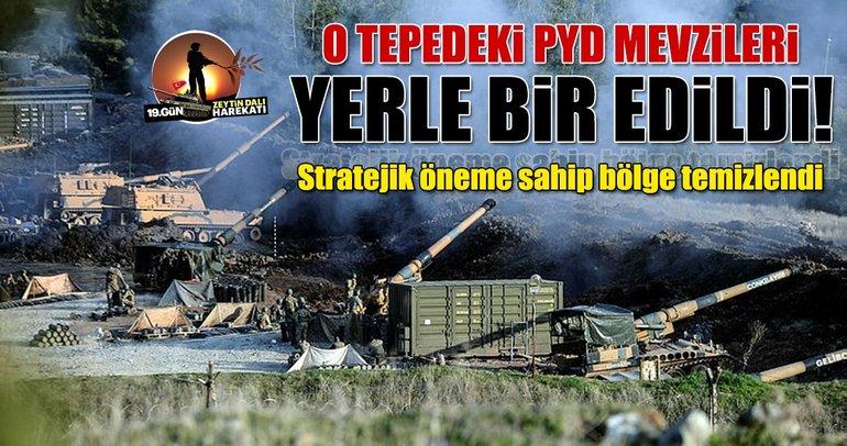 Sakarya Tepesi'ndeki PYD mevzileri yerle bir edildi