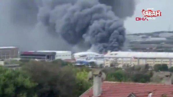 Son dakika haberi... İstanbul Silivri'de fabrika yangını   Video