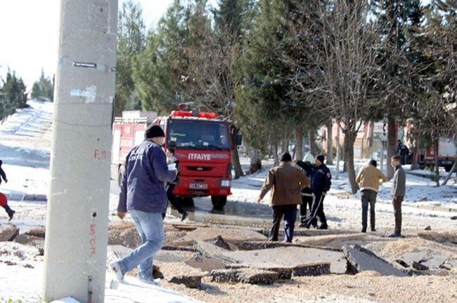 Gaziantep'te doğalgaz boru hattında patlama