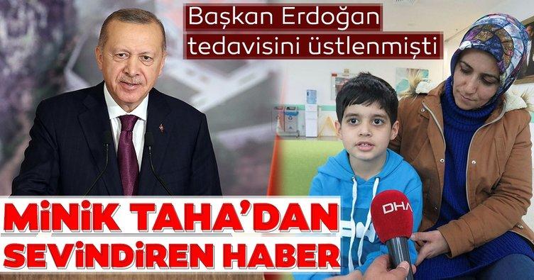 Başkan Erdoğan tedavisini üstlenmişti! Minik Taha'dan sevindiren haber