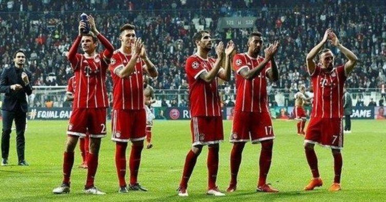 Bayernli futbolcular Beşiktaş taraftarını alkışladı