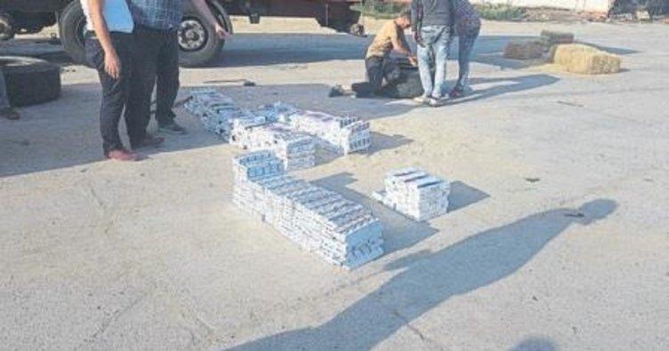 Kula'da kaçak sigara operasyonu