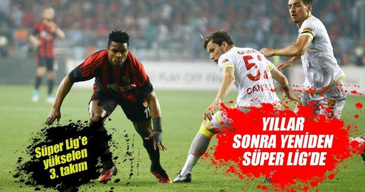 Göztepe 14 sezon sonra yeniden Süper Lig'de
