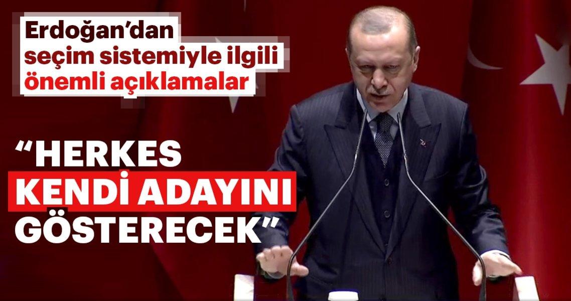 Cumhurbaşkanı Erdoğan'dan seçim sistemine ilişkin önemli açıklamalar!