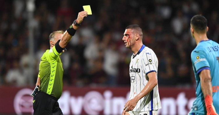 Atalanta maçında Merih Demiral oyuna devam edemedi! Kanlar içinde kaldı...