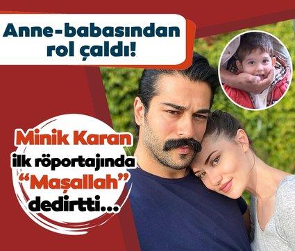 Minik Karan anne-babasından rol çaldı! Burak Özçivit'in oğlu Karan ilk röportajında sevimli halleri ile Maşallah dedirtti...