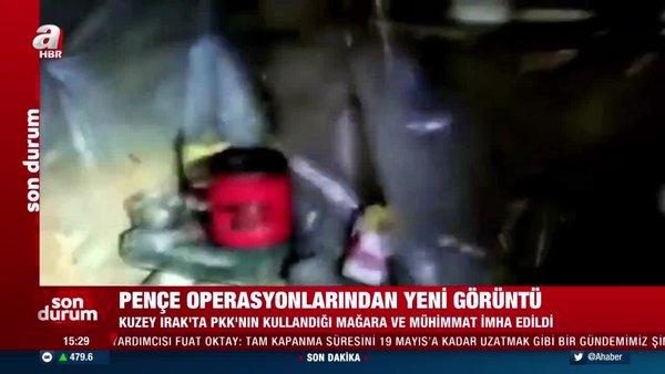Milli Savunma Bakanlığı yeni görüntüleri paylaştı 'Irak'ın kuzeyinde PKK'ya ait önemli bir mağara kullanılmaz hale getirildi!