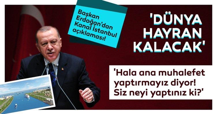 SON DAKİKA: Başkan Recep Tayyip Erdoğan'dan Kanal İstanbul açıklaması: Alternatifleriyle hazır!