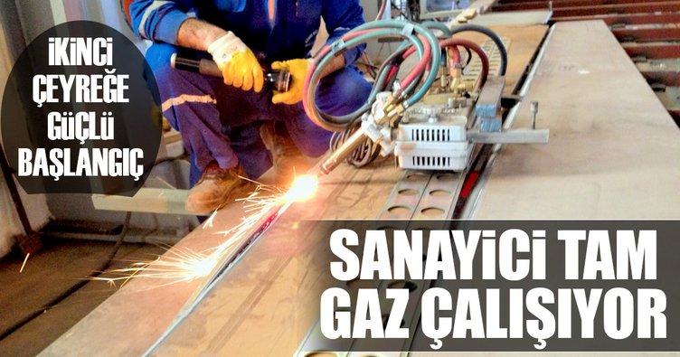 Sanayici tam gaz çalışıyor