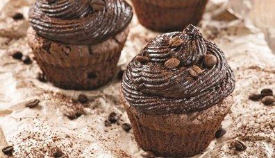 Kahveli brownie cupcake
