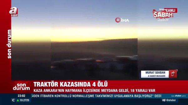 SON DAKİKA HABERİ: Ankara'da piknik dönüşü traktör faciası: 4 ölü, 18 yaralı | Video