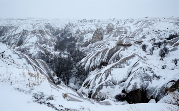 Kapadokya kar altında