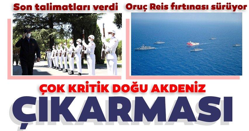 SON DAKİKA! Milli Savunma Bakanı Hulusi Akar ve komutanlardan Doğu Akdeniz çıkarması! Kritik gelişme...