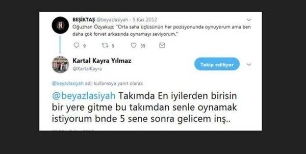 Kartal Kayra Yılmaz'dan Oğuzhan Özyakup'a olay tweet
