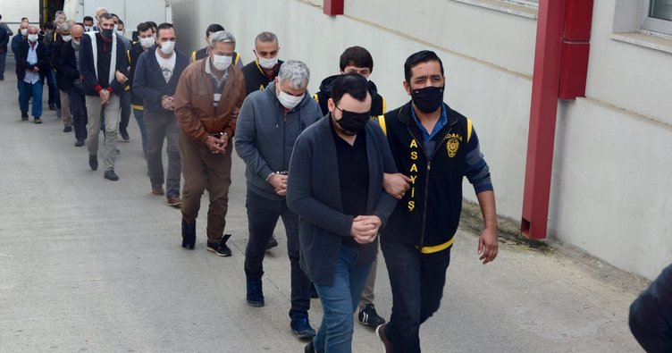 Adana'da şafak operasyon: 34 kişi yakalandı