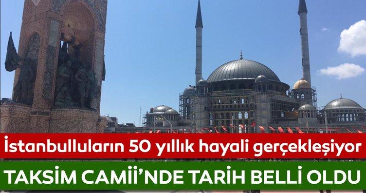 Taksim Camii'nin yıl sonunda açılması hedefleniyor