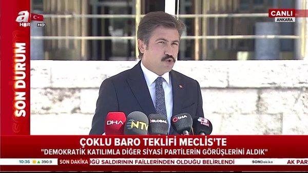 Çoklu Baro Teklifi Meclis'e sunuldu! AK Parti'den ilk açıklama... | Video