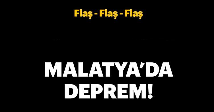 Son dakika: Malatya'da deprem!