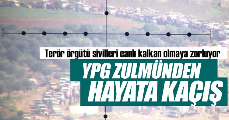 YPG zulmünden hayata kaçış
